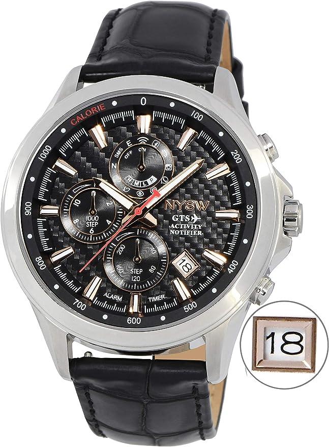Reloj Inteligente híbrido NYSW para Hombre con Calendario perpetuo ...