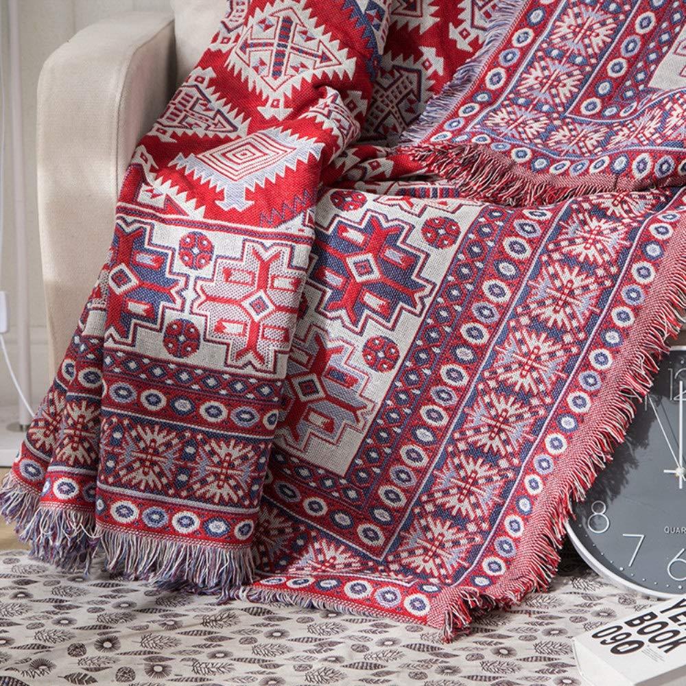毛布 ソファタオルライン毛布綿肥厚ラインエアコン毛布 (Color : Sumino, Size : 180*340) B07TCTXSFC Sumino 180*340