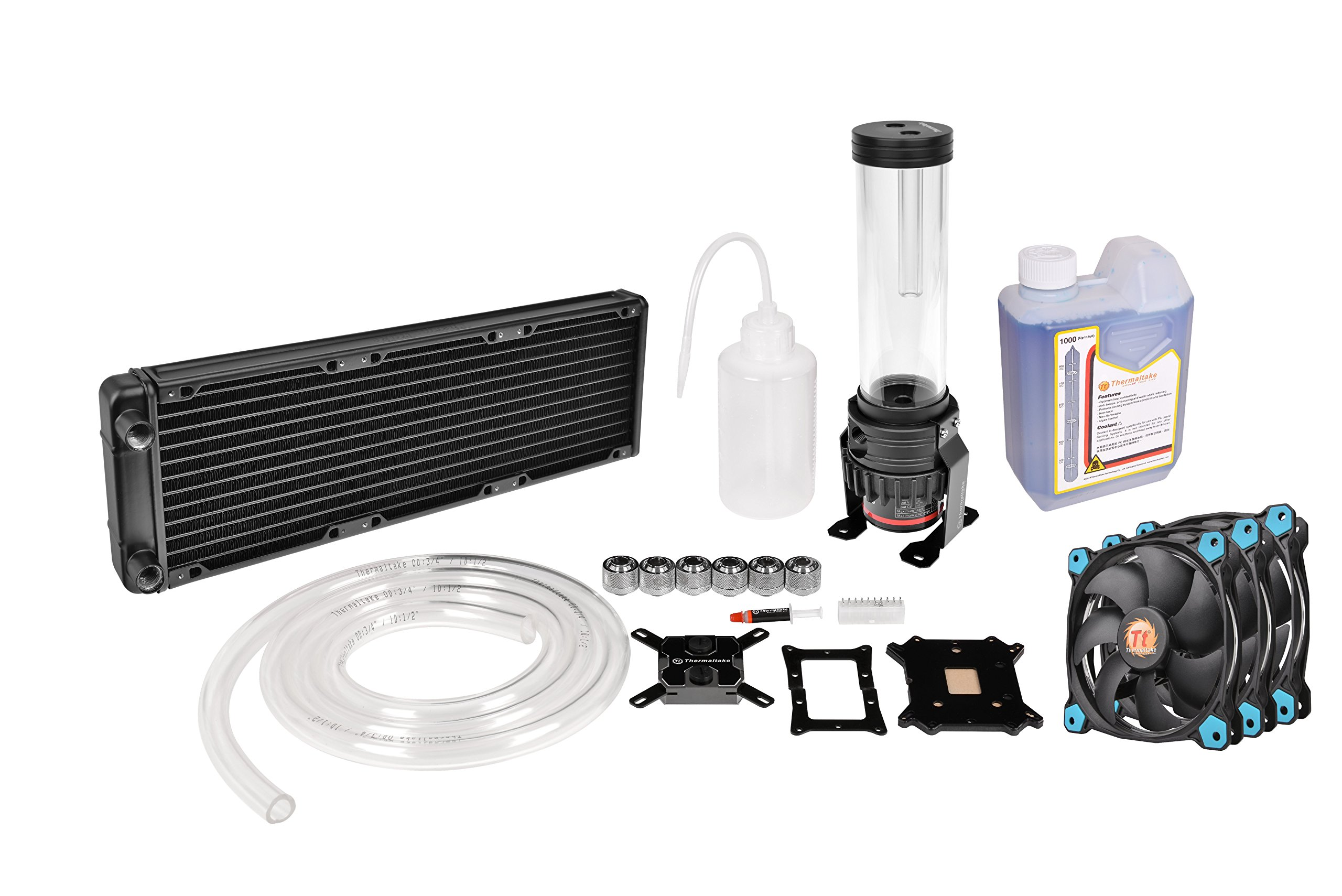 Thermaltake PACIFIC DIY LCS R360 D5 Res/Pump Riing Blue LED Edition Water Cooling Kit CL-W115-CA12BU-A by Thermaltake
