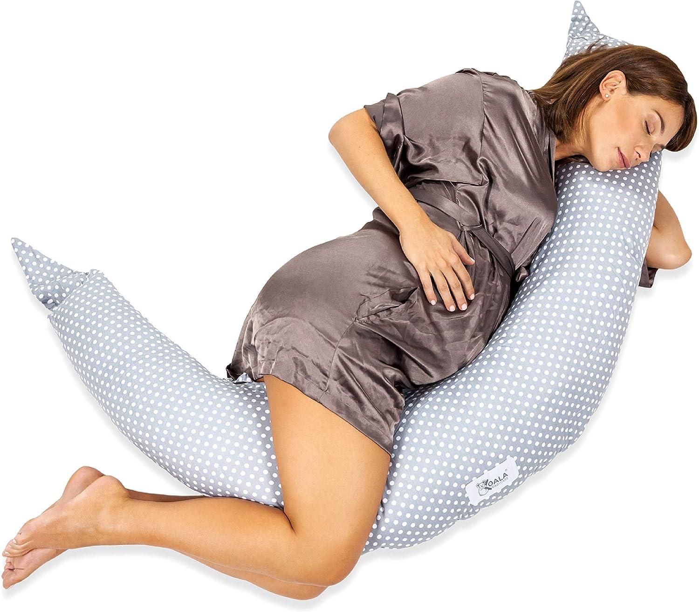 Koala Babycare® Cuscino Gravidanza per Dormire e Allattamento Neonato con Zip a...
