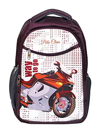 ec5526c2c531 POLO CLASS Fabric 25 Liters Maroon School Bag  Amazon.in  Bags ...