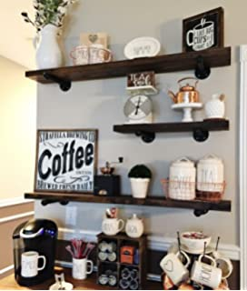 Perfect Rustic Floating Shelves   Industrial Shelving   Floating Wall Shelf   Wood Floating  Shelves   Wooden