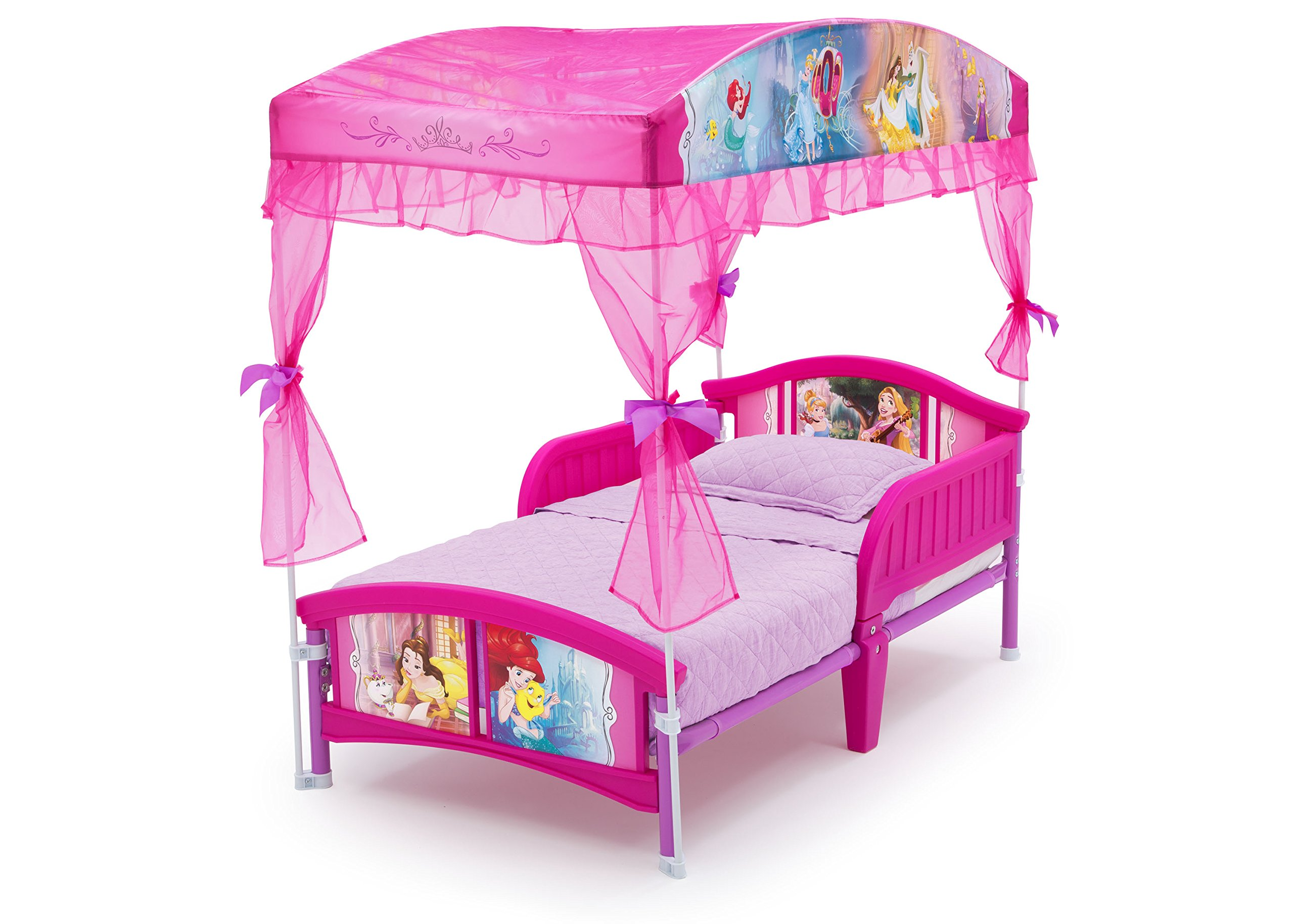 delta children canopy toddler bed disney princess ebay. Black Bedroom Furniture Sets. Home Design Ideas