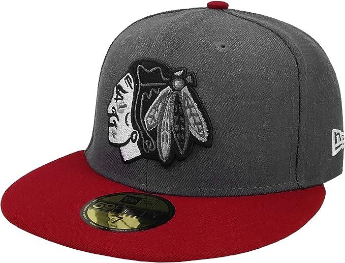 Chicago Blackhawks Charz Snap Black Red White NHL New Era 9Fifty Snapback Hat