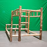Midwest Log Furniture - Rustic Log Bunkbed - Twin Over Full