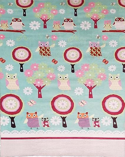 MK Home Mk Collection Teens/Girls Soft Cozy Decorator Area Rug Non-Slip For  Kids Bedroom Carpet Owl Teal Green Aqua New