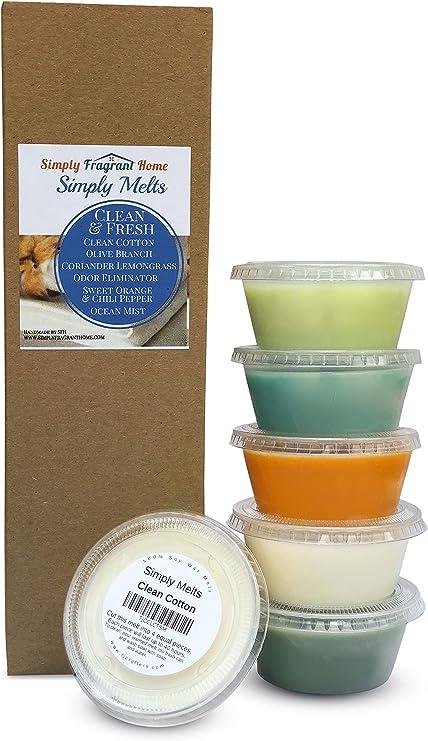 Wax Melt Gift Set Scented Wax Cubes 6 Pack Wax Melt Sampler Strong Wax Melts