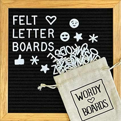 black felt letter board 10x10 inches changeable letter boards include 340 white plastic letters