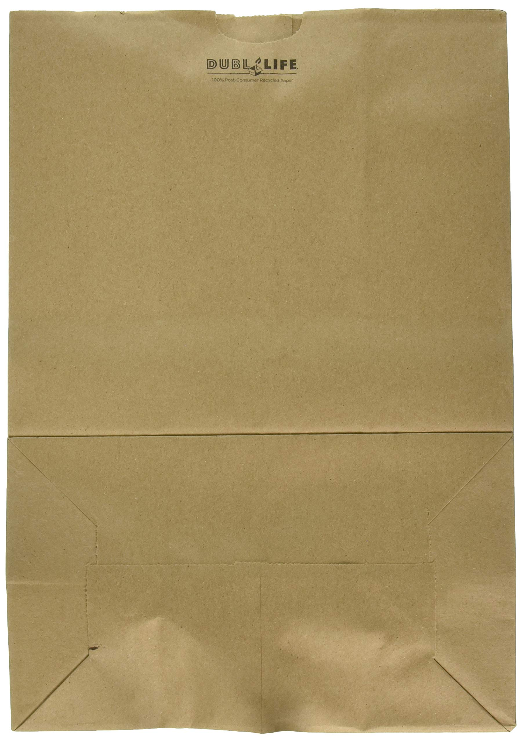 Duro Heavy Duty Kraft Brown Paper Barrel Sack Bag, 57 Lbs Basis Weight, 12 x 7 x 17, 100 Ct/Pack