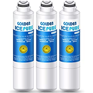 Golden IcePure Refrigerator Water Filter Replacement (3PACK )Compatible with Kenmore 469101, Samsung DA-97-08006A, DA-97-08006B, DA-2900020A, DA-29000020B, WF-294, WSS-2, HAF-CIN and more