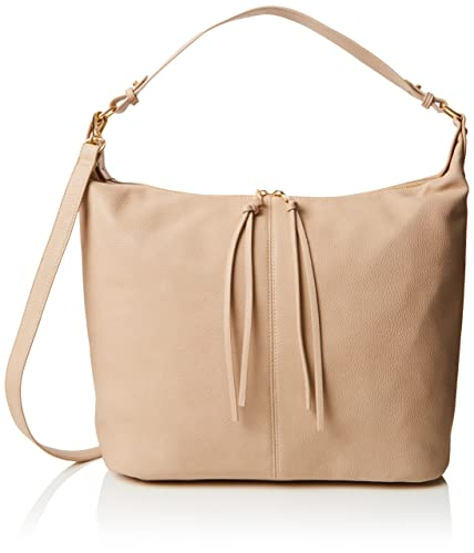 Womens Double Zip Hobo Shoulder Bag Beige (Nude) Dorothy Perkins 8U3ro