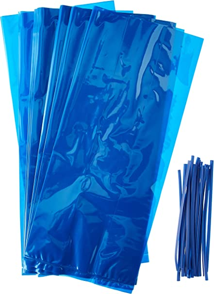 20 x PARTY TREATS Birthday Party Cello Cellophane Sweet Loot Gift Bags