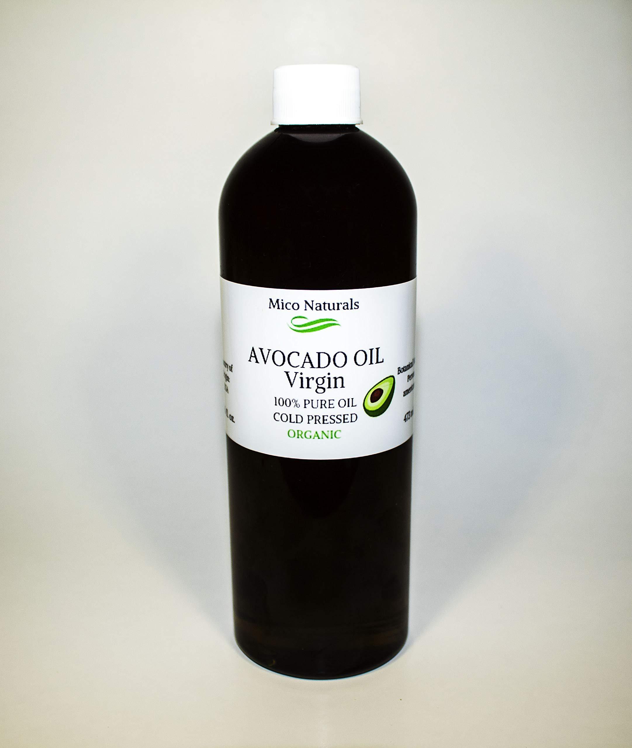 Avocado Oil Virgin Unrefined Organic 16 fl. oz. by Mico Naturals Co. by Mico Naturals