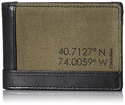 47f2a3ac1 Calvin Klein Men s Calvin Klein Slimfold Wallet Canvas and Smooth Leather