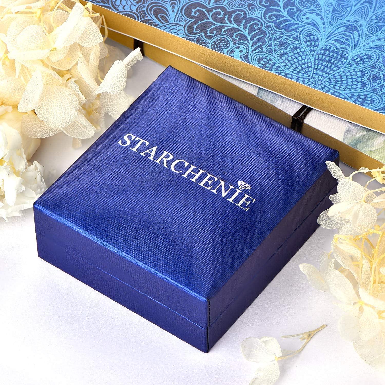 Starchenie Collana Donna Ciondolo Talismano in Argento Sterling Perla con fatina e luna regalo di compleanno per donne e ragazze