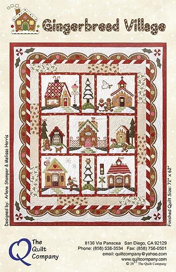 Amazon.com: Gingerbread Village Christmas Holiday The Quilt ... : village quilt - Adamdwight.com