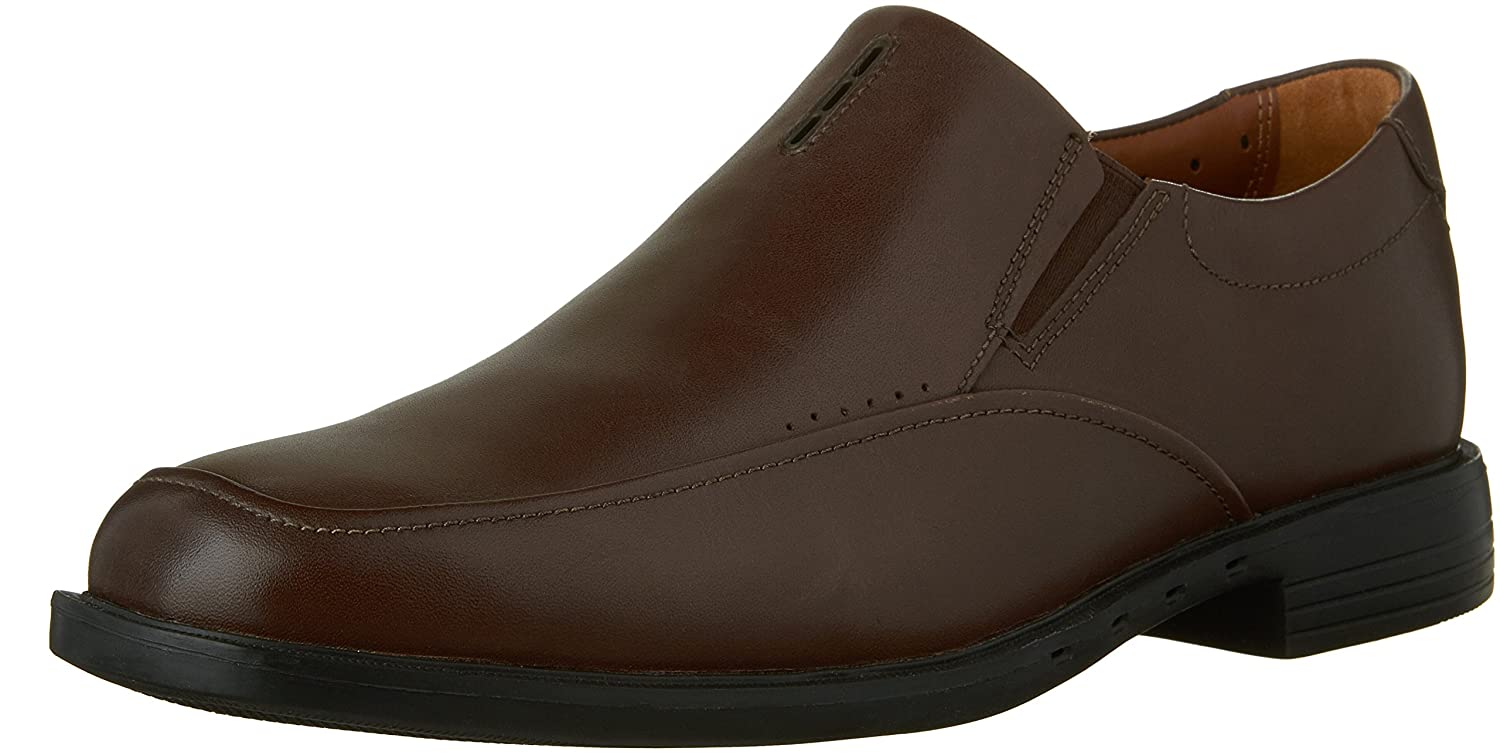 Clarks Men's Un.Bizley Lane Slip on,Dark braun Leather,US 11.5 M