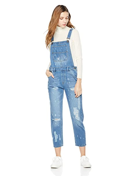 aesthetic appearance Good Prices newest selection Lily Parker Women's Classic Adjustable Strap Denim Bib Overall