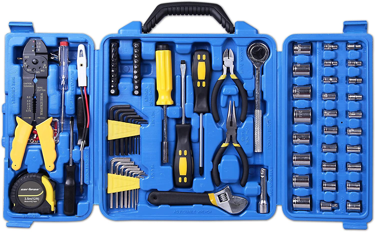 Drive Socket Set Tool Kit Set CARTMAN 122pcs Auto Tool Accessory Set Electric Tool Set