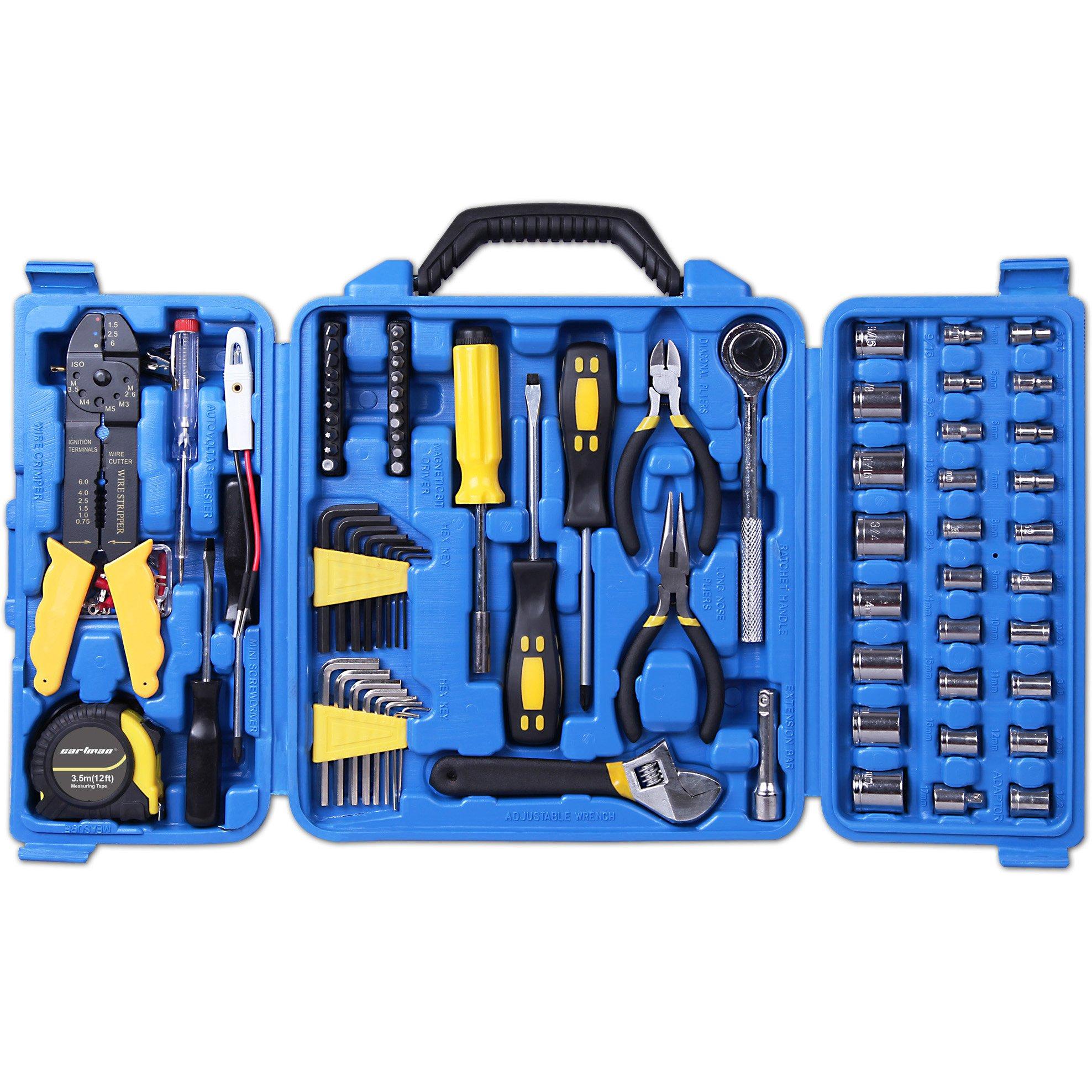 CARTMAN 122pcs Auto Tool Accessory Set, Drive Socket Set, Tool Kit Set, Electric Tool Set by CARTMAN