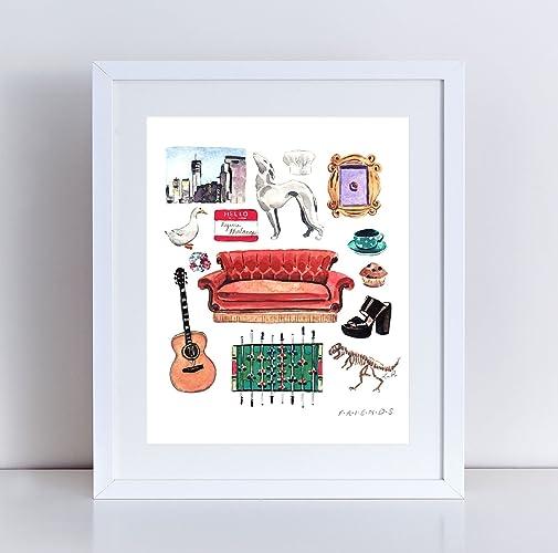 Amazon.com: Friends TV Show Art Print Friends Painting Friends TV ...
