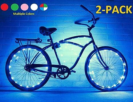 Cadena de luces de GlowRiders, para ruedas de bicicleta, con LED ultrabrillantes, pack