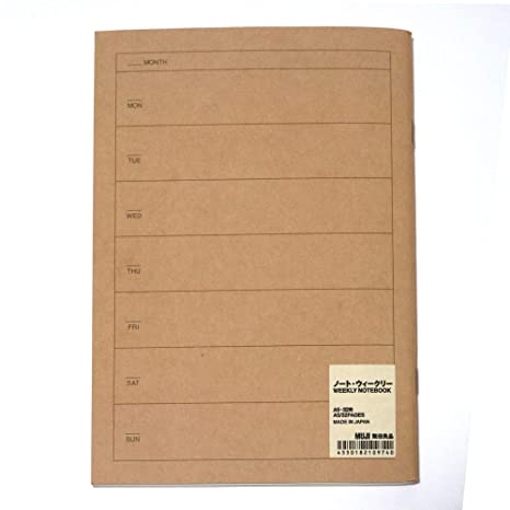 MUJI Weekly Planner A5 Size 32 Sheets, Schedule Notebook Made in Japan