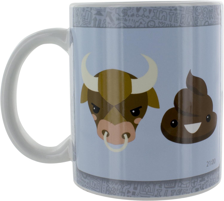 Tazas Bull, cerámica, Multi, 12 x 8 x 10 cm: Amazon.es: Hogar
