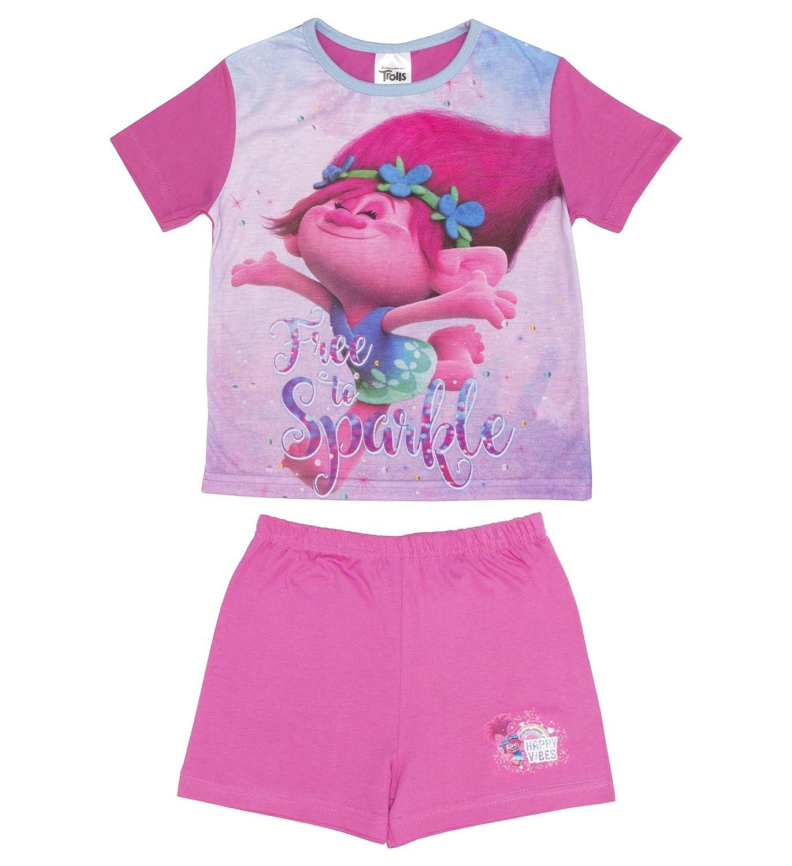 Trolls Sparkle Girls Shortie Pyjamas