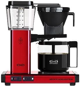 Technivorm Moccamaster 59618 KBG Coffee Brewer, 40 oz, Red Metallic