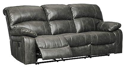 Signature Design by Ashley 5160115 Dunwell Power Reclining Sofa, Steel