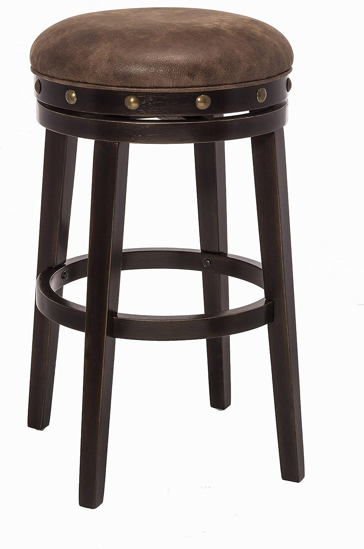 Hillsdale 5990-830 Benard Backless Bar Stool Height, Brown
