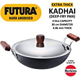 Futura Hard Anodised Aluminium Deep Fry Pan, 4 litres, Black