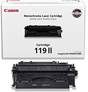 Canon Genuine Toner, Cartridge 119 II Black, High Capacity (3480B001), 1 Pack, for Canon imageCLASS MF5800 /5900 / 6100 Series, MF410 Series, LBP6300 / 6600 Series, LBP250 Series Laser Printers