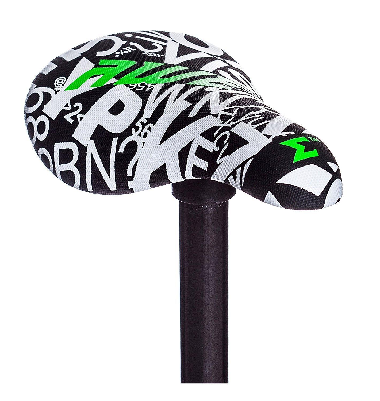 AWE BMX Freestyle Saddle Seat Black/White FREE SEAT POST by AWE