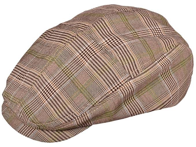 Amazon.com  Fashion Plaid Ivy Cap - Brown - X-Small  Clothing 496a8566b36