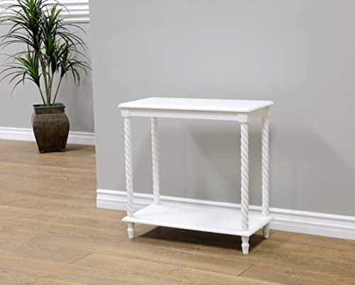 Frenchi Home Furnishing Chair Side Table 2 Tier Shelves