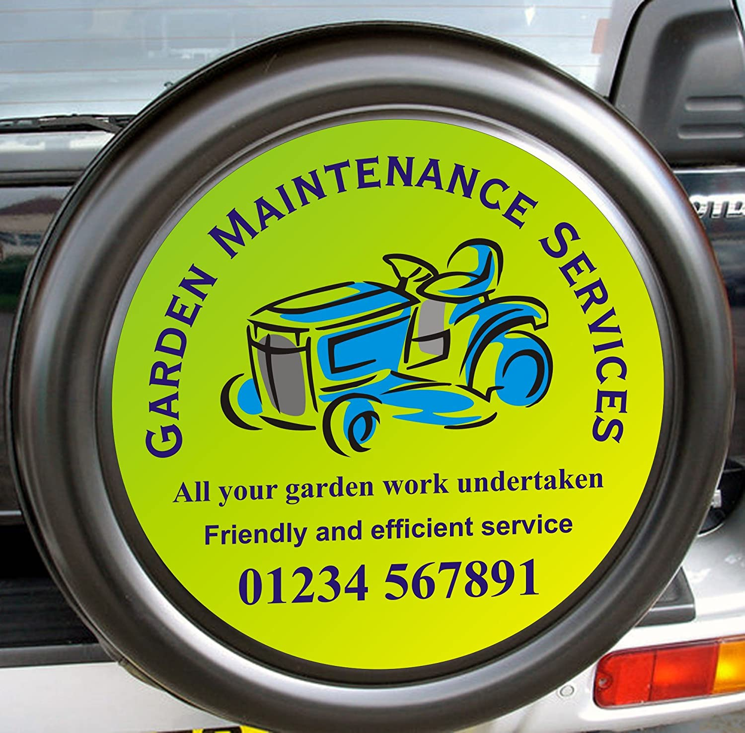Smarts Art Spare wheel cover decals personalised your business advertise 550mm free design