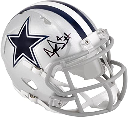 new arrival c3589 bbde4 Dak Prescott Dallas Cowboys Autographed Riddell Speed Mini Helmet -  Fanatics Authentic Certified - Autographed NFL Mini Helmets