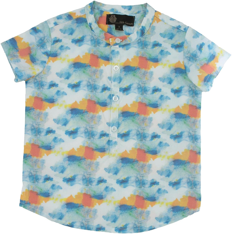 Little Cocoon Boys Short Sleeve Dress Shirt With Mandarin Collar