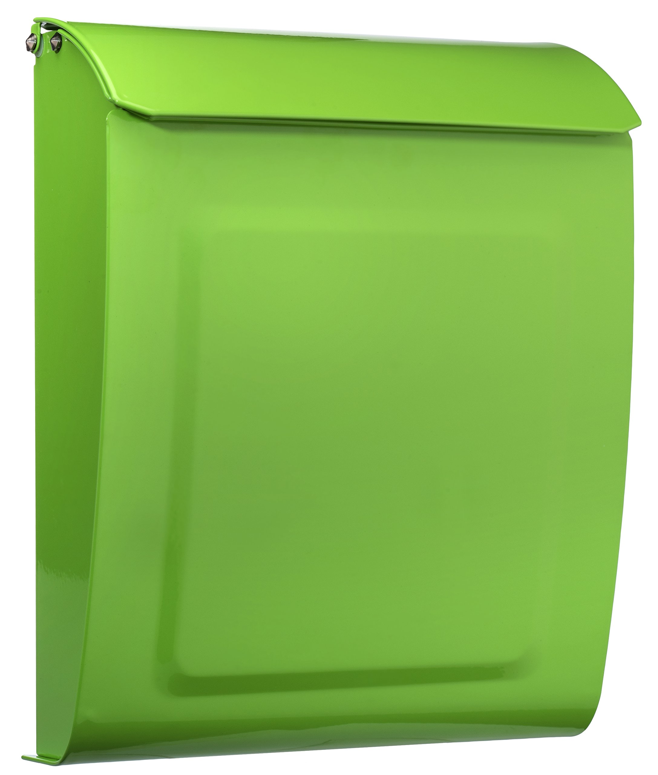 ARCHITECTURAL MAILBOXES 2594LG Architectural Mailboxes Aspen Locking Wall Mount Mailbox Lime Green Aspen Locking Wall Mount Mailbox, Small, Lime Green