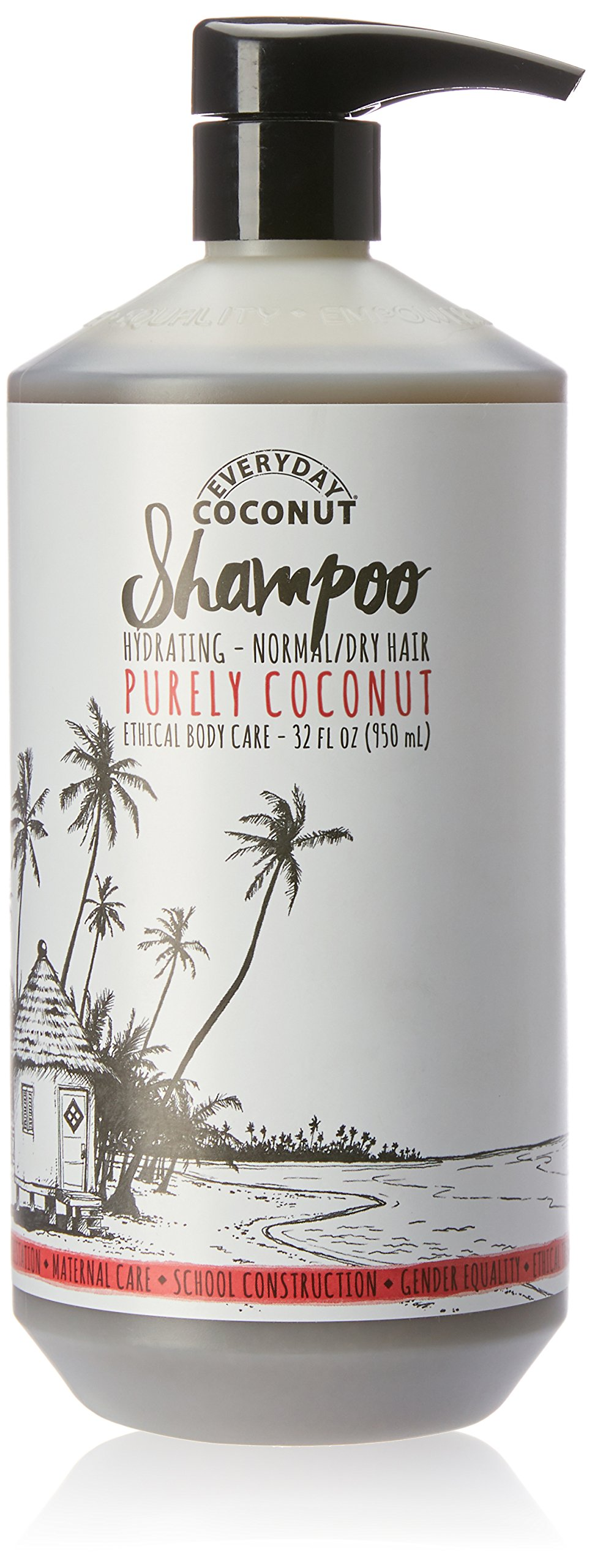 Alaffia - EveryDay Coconut - Hydrating Shampoo, Purely Coconut, 32 Ounces