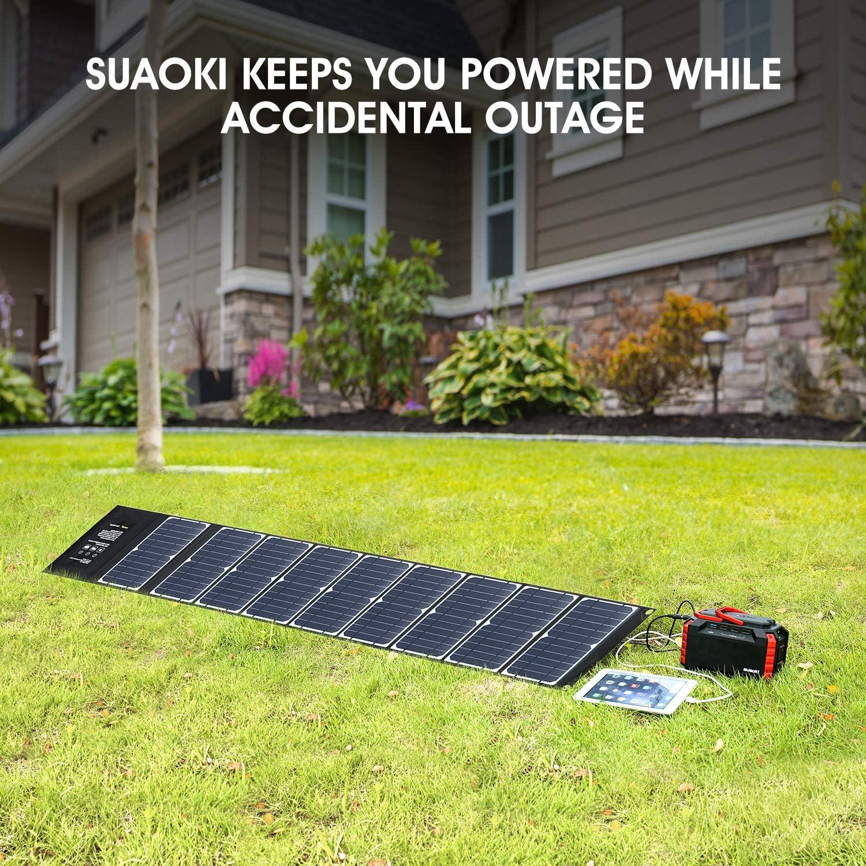 Amazon.com: SUAOKI Cargador Solar 60W Panel Solar Portátil ...