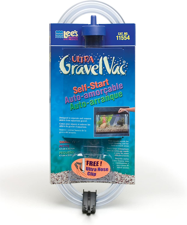 "B0002APT22 Lee's Ultra GravelVac, Self-Start with Nozzle & Hose Clip - 9"" Small 81l0ZRcEinL"