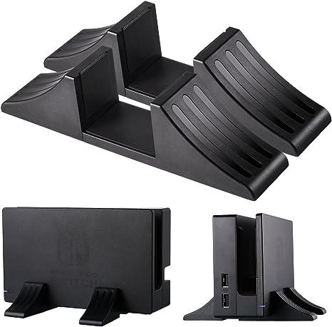 Soporte de Juego Compacto Base de Plataforma Estable para Nintendo Switch, Playstation 4 Console, Xbox One y Otras Consolas, Negro, 2 Piezas: Amazon.es: Videojuegos