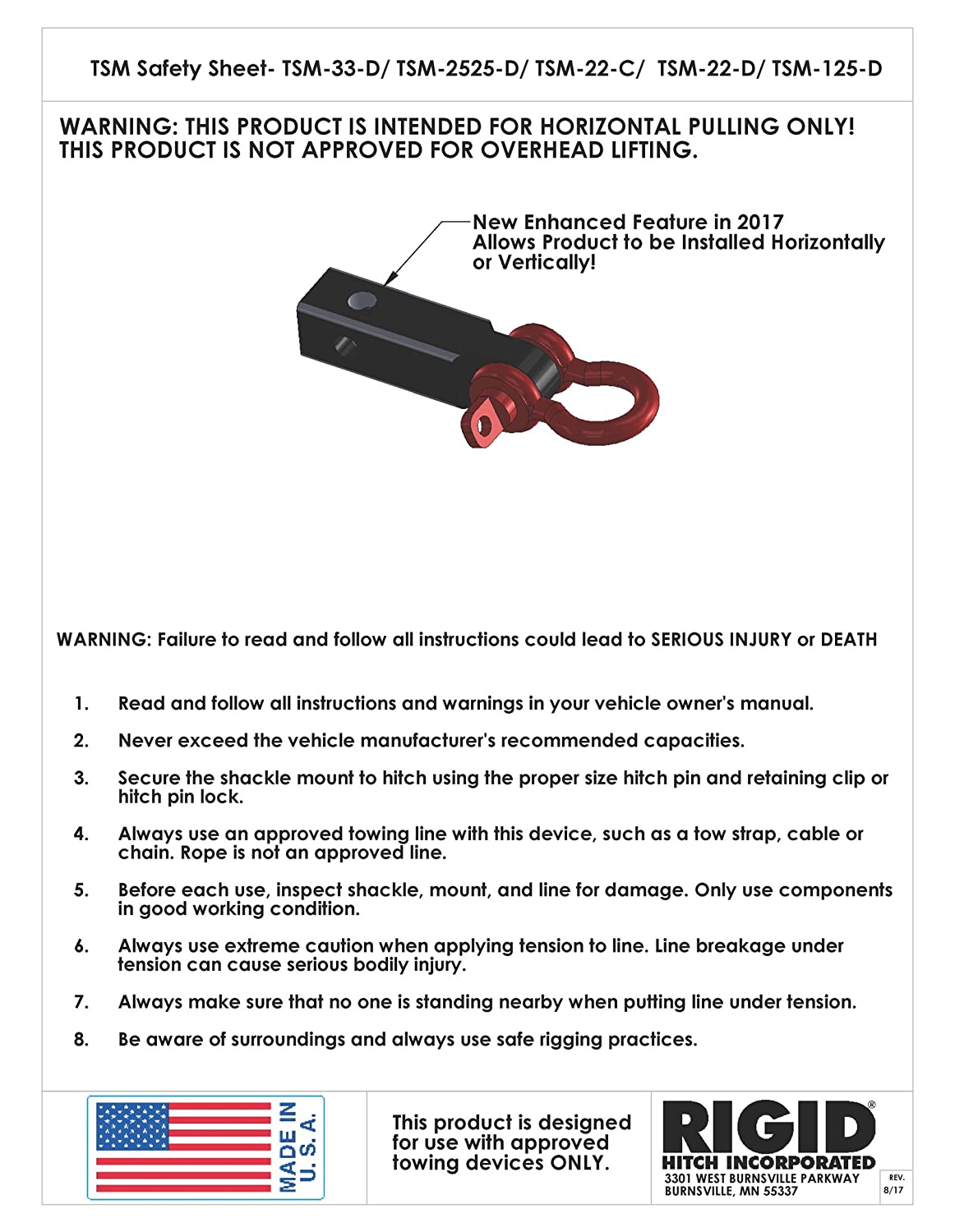 Amazon enhanced tow strap shackle mount tsm 125 d for 1 14 amazon enhanced tow strap shackle mount tsm 125 d for 1 14 receivers made in usa automotive publicscrutiny