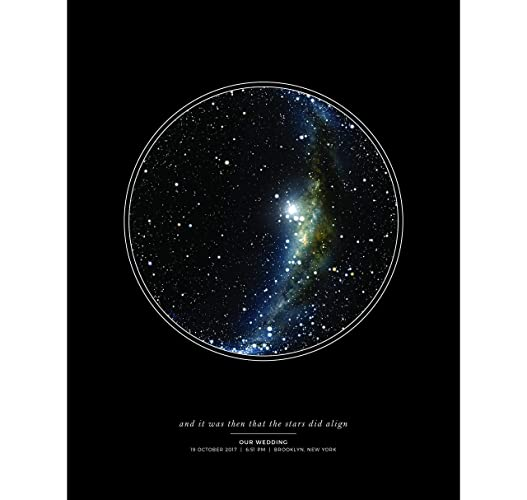 Star Map Art.Amazon Com Personalized Star Map Print Night Sky Unframed Print