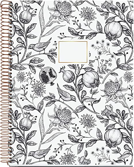 A4 Spiral Notebook 120 Sheets Grid Interior 4 Colours Pomegranate Hardcover MIQUELRIUS 47719