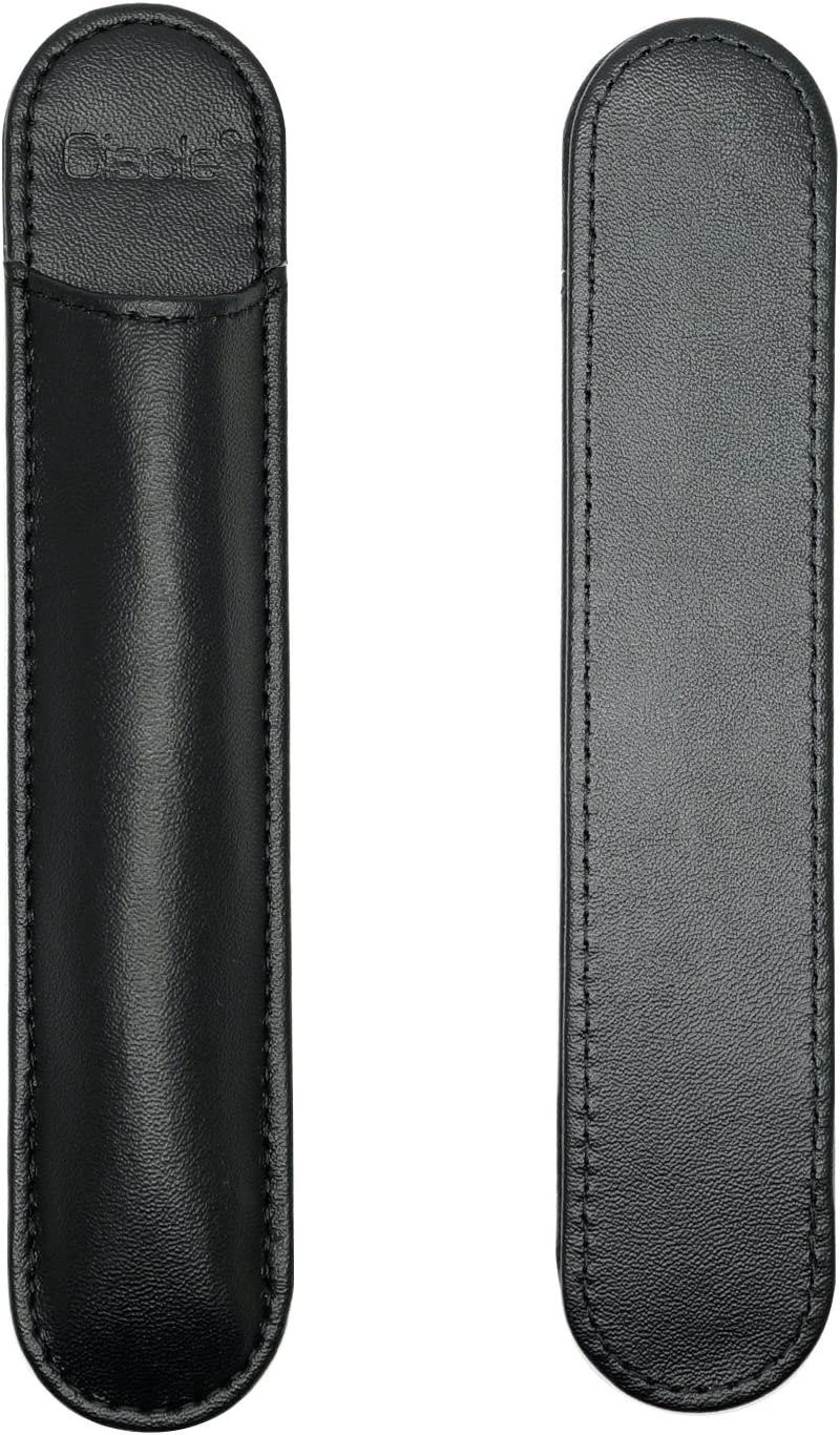 CISCLE Pen Holder Case Suitable for 0.27-0.40 Inches Diameter stylus pen or Sign Pen-Self-Stick Microfiber Leather Pencil Sleeve Pocket Pouch Cover for Stylus Pencil/Pen-1 Pack(Black)