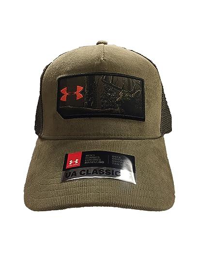 6af4bdcb4d7 Amazon.com  Under Armour Men`s UA Patch Hat (Bayou Maverick Brown ...